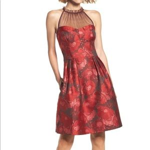 Maggy London Brocade Dress with Pockets!